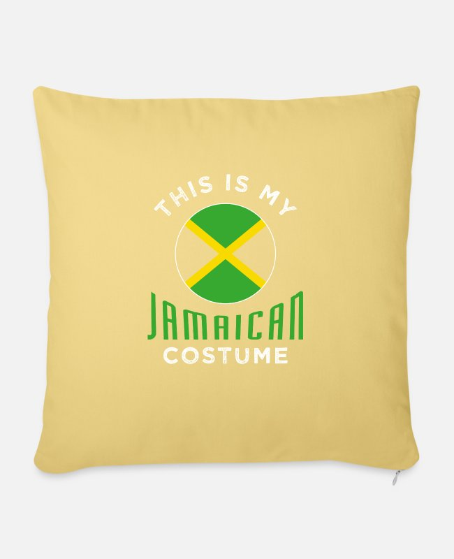 Jamaica Flag Pillow Cases - Jamaica - Pillowcase 17,3'' x 17,3'' (45 x 45 cm) washed yellow