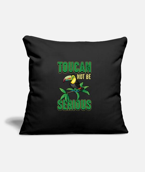 Earth Day Pillow Cases - Toucan retro bird rainforest jungle gift - Pillowcase 17,3'' x 17,3'' (45 x 45 cm) black