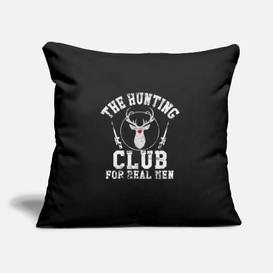 Hunting Pillow Cases - Hunting Hunting Club. hunt - Pillowcase 17,3'' x 17,3'' (45 x 45 cm) black