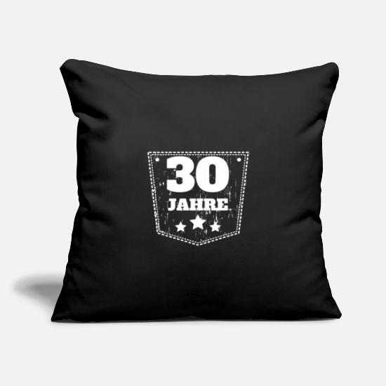 Born Pillow Cases - Birthday 30years gift idea party feast day - Pillowcase 17,3'' x 17,3'' (45 x 45 cm) black