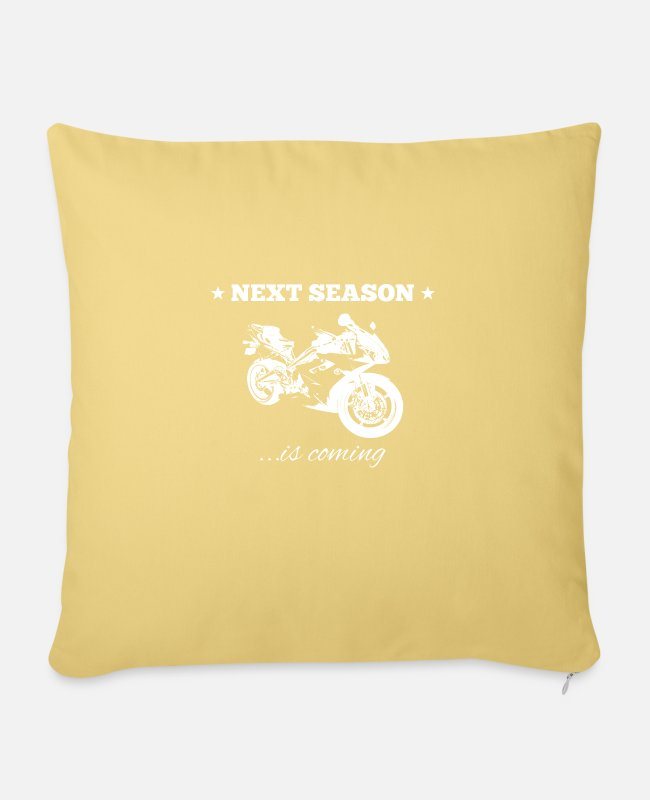 Motorcycle Pillow Cases - Motorcycle season - Pillowcase 17,3'' x 17,3'' (45 x 45 cm) washed yellow