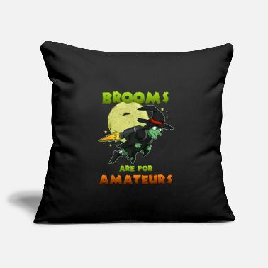 Witch Witch on witches broom - Pillowcase 17,3'' x 17,3'' (45 x 45 cm)