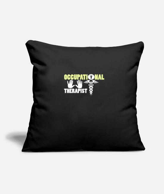 Social Pillow Cases - occupational therapist - Pillowcase 17,3'' x 17,3'' (45 x 45 cm) black