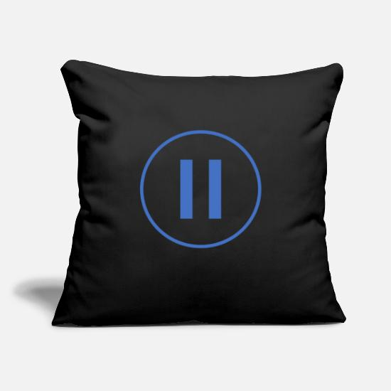 Pause Pillow Cases - pause - Pillowcase 17,3'' x 17,3'' (45 x 45 cm) black