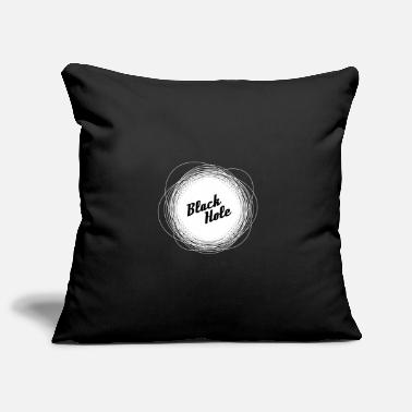 Black Black hole, black, withe -Black hole, black - Pillowcase 17,3'' x 17,3'' (45 x 45 cm)