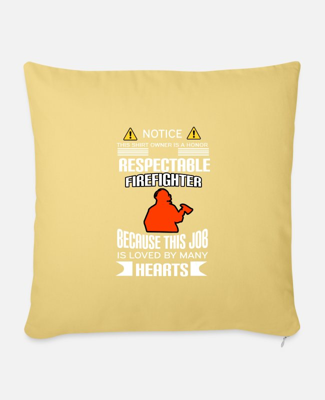 Fire Department Pillow Cases - Firefighters firebrigade fire defense defender new ho - Pillowcase 17,3'' x 17,3'' (45 x 45 cm) washed yellow