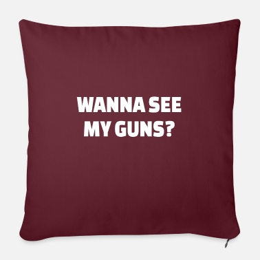 Muscle POWERLIFTING: Wanna see my guns? - Pillowcase 17,3'' x 17,3'' (45 x 45 cm)