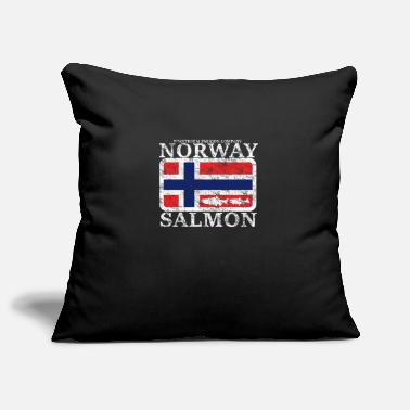 Salmon Wikstroem - Norway Salmon Banner - Norway Salmon - Pillowcase 17,3'' x 17,3'' (45 x 45 cm)