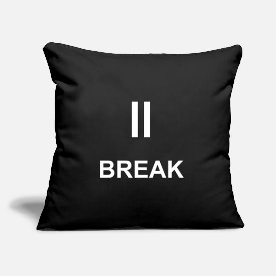 Symbol  Pillow Cases - Break icon - Pillowcase 17,3'' x 17,3'' (45 x 45 cm) black