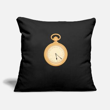 Pocket watch clock time - Pillowcase 17,3'' x 17,3'' (45 x 45 cm)