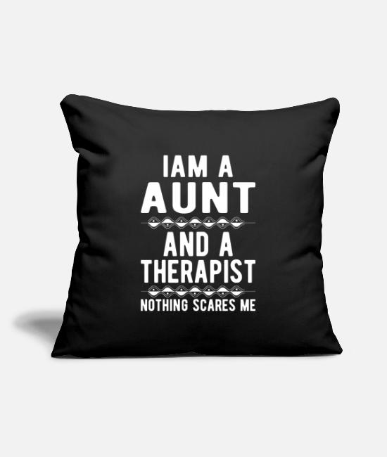 Mental Health Pillow Cases - Aunt Therapist: Iam a Aunt and a Therapist - Pillowcase 17,3'' x 17,3'' (45 x 45 cm) black