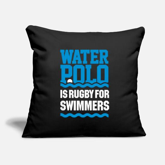 Rugby Pillow Cases - water polo is rugby for swimmers vector - Pillowcase 17,3'' x 17,3'' (45 x 45 cm) black