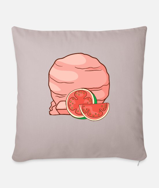 Beach Pillow Cases - Guava ice cream ice cream ice cream ice cream ball ice - Pillowcase 17,3'' x 17,3'' (45 x 45 cm) light taupe