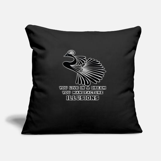 Gift Idea Pillow Cases - You live in a dream - Pillowcase 17,3'' x 17,3'' (45 x 45 cm) black