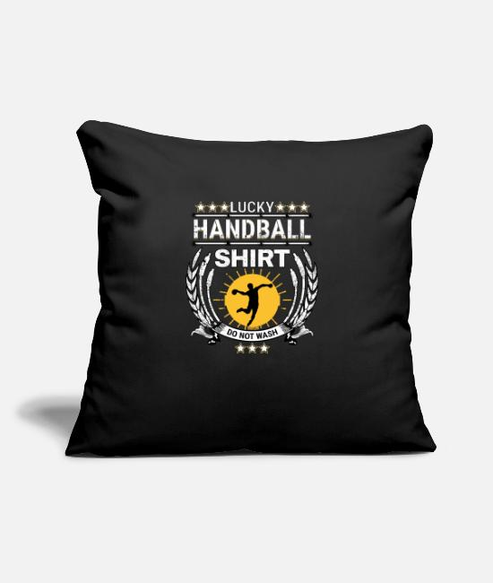 Sporty Pillow Cases - Handball Tshirt Sports Athlete Handballer Gift - Pillowcase 17,3'' x 17,3'' (45 x 45 cm) black