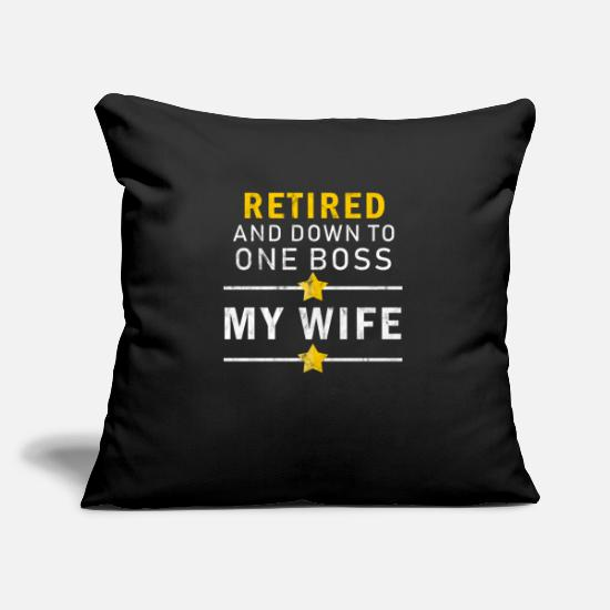 Retirement Pillow Cases - Retired - Pillowcase 17,3'' x 17,3'' (45 x 45 cm) black