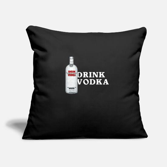 Alcohol Pillow Cases - Drink Vodka - Pillowcase 17,3'' x 17,3'' (45 x 45 cm) black