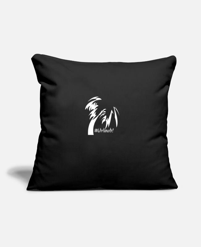 Water Pillow Cases - #Vacation - Pillowcase 17,3'' x 17,3'' (45 x 45 cm) black
