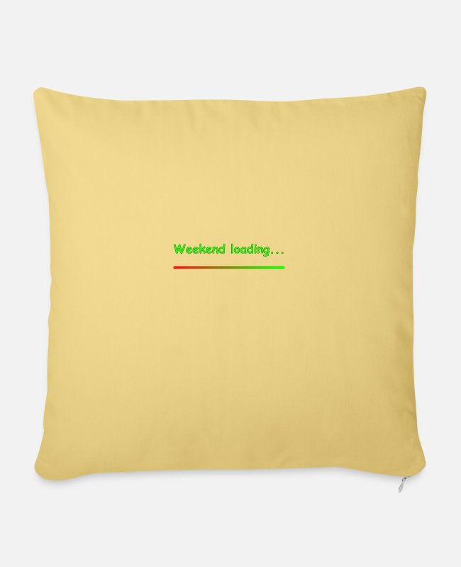 End Of The Week Pillow Cases - Weekend loading - Pillowcase 17,3'' x 17,3'' (45 x 45 cm) washed yellow