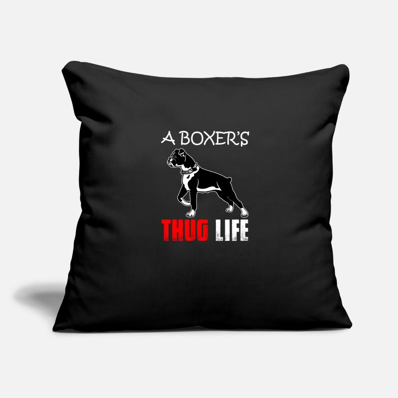 Birthday Pillow Cases - boxer - Pillowcase 17,3'' x 17,3'' (45 x 45 cm) black