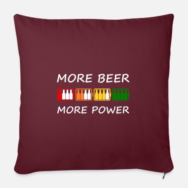 More Beer More Power - Pillowcase 17,3'' x 17,3'' (45 x 45 cm)
