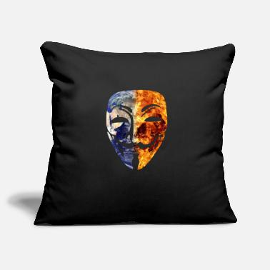 Wikileaks Burning World Mask Anonymous Wikileaks Anonymous - Pillowcase 17,3'' x 17,3'' (45 x 45 cm)