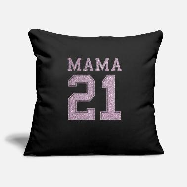 Mama will be number 21 rose gold glitter in 2021 - Pillowcase 17,3'' x 17,3'' (45 x 45 cm)