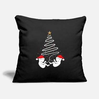 Season Christmas Pregnancy Baby Twins Xmas Announcement - Pillowcase 17,3'' x 17,3'' (45 x 45 cm)
