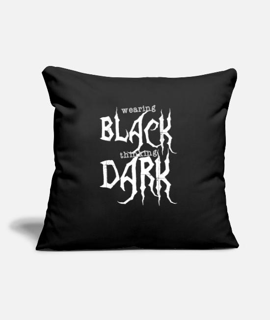 Festival Pillow Cases - Wearing BLACK thinking DARK Metal Gothik bold wave - Pillowcase 17,3'' x 17,3'' (45 x 45 cm) black