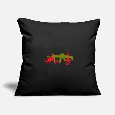 Military Gun with Blood - Pillowcase 17,3'' x 17,3'' (45 x 45 cm)
