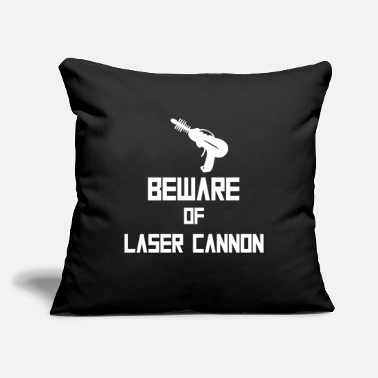 Shooting Star Pillow Cases - Beware of Laser Cannon white - Pillowcase 17,3'' x 17,3'' (45 x 45 cm) black