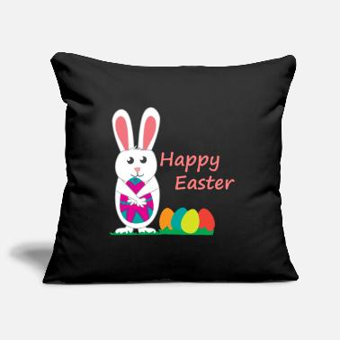 Easter Bunny Happy Easter Easter Gift Colorful Eggs - Sofa pillowcase 17,3'' x 17,3'' (45 x 45 cm)