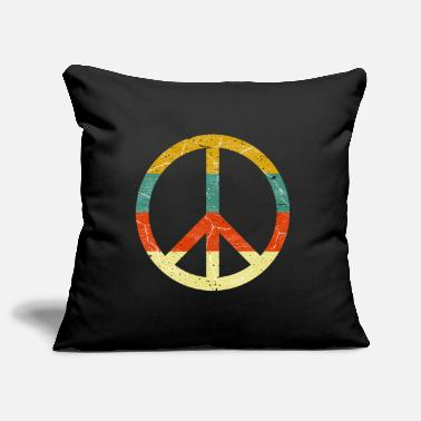 Peace Movement Peace sign retro colors vintage grunge look - Pillowcase 17,3'' x 17,3'' (45 x 45 cm)
