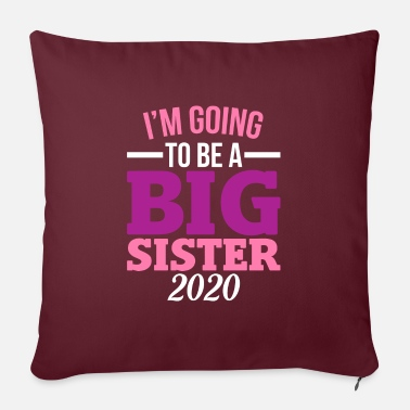Pregnant I'm going to be Big Sister siblings - Pillowcase 17,3'' x 17,3'' (45 x 45 cm)