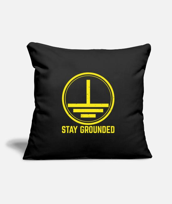 Easter Pillow Cases - Stay Grounded Electricity Electrician Electronics Technician - Pillowcase 17,3'' x 17,3'' (45 x 45 cm) black