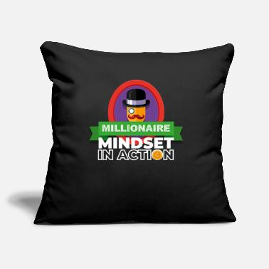 Euro Sign Millionaire Mindset In Action Trading Business - Pillowcase 17,3'' x 17,3'' (45 x 45 cm)