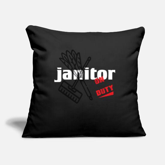 Clean Pillow Cases - Janitor - Cleaning and Repairing - Janitor - Pillowcase 17,3'' x 17,3'' (45 x 45 cm) black