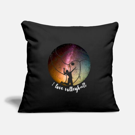 Gift Idea Pillow Cases - Volleyball serve - Pillowcase 17,3'' x 17,3'' (45 x 45 cm) black