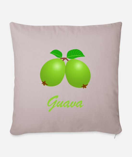 Bless You Pillow Cases - Guava vegan organic eco healthy gift idea - Pillowcase 17,3'' x 17,3'' (45 x 45 cm) light taupe