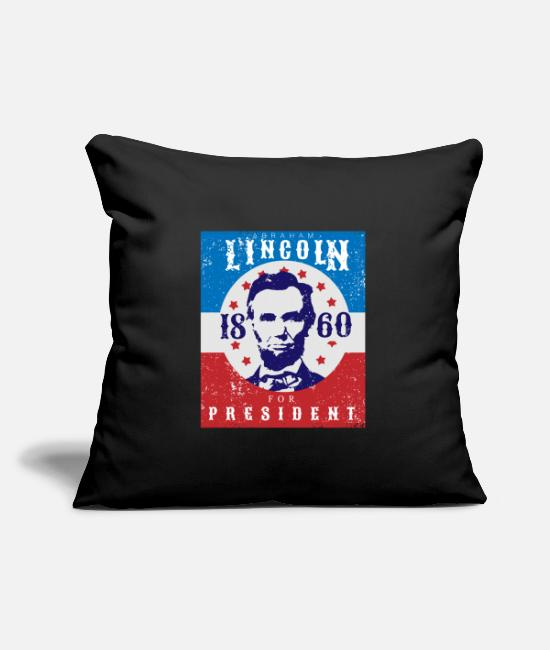President Pillow Cases - Lincoln election poster - Pillowcase 17,3'' x 17,3'' (45 x 45 cm) black