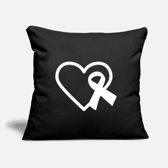 Gift Idea Pillow Cases - AWARENESS RIBBON - Pillowcase 17,3'' x 17,3'' (45 x 45 cm) black