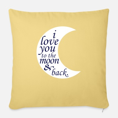 Couple LOVE YOU TO THE MOON - Pillowcase 17,3'' x 17,3'' (45 x 45 cm)