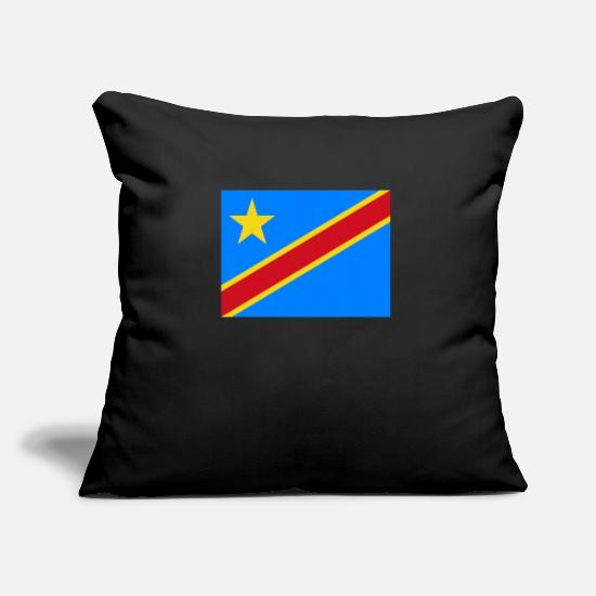Stylish Pillow Cases - Flag of Congo, Democratic Republic of the Cd - Pillowcase 17,3'' x 17,3'' (45 x 45 cm) black