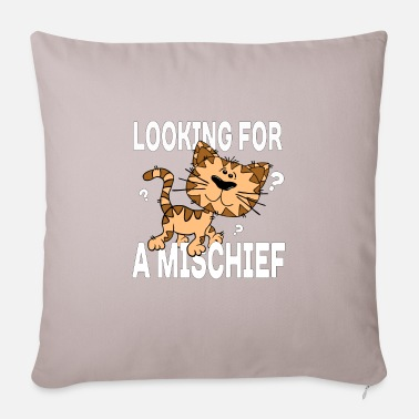 Cartoon cat looking for a mischief - Pillowcase 17,3'' x 17,3'' (45 x 45 cm)