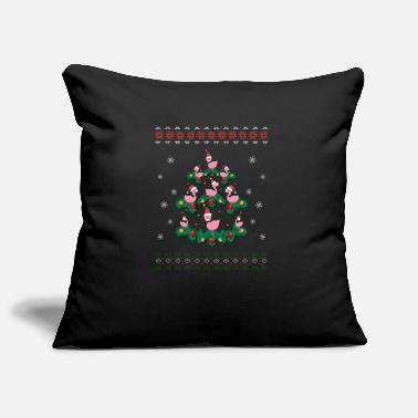 Christmas Flamingo Ugly Christmas Flamingo - Pillowcase 17,3'' x 17,3'' (45 x 45 cm)