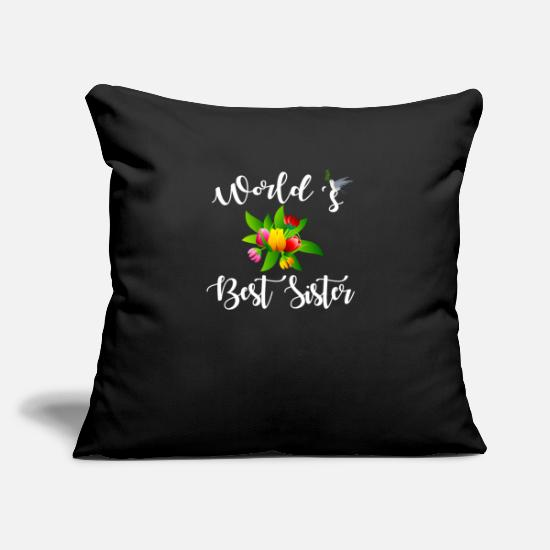 Love Pillow Cases - Worlds Best Sister - Pillowcase 17,3'' x 17,3'' (45 x 45 cm) black