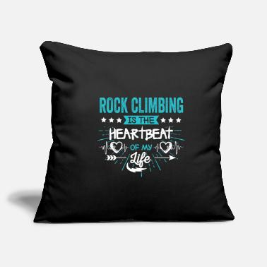 Rock Humorous Motto Rock climbing rock climber sayings heart Gechenk - Pillowcase 17,3'' x 17,3'' (45 x 45 cm)