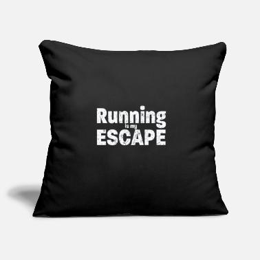 Funny Running Running Funny Design - Running Is My Escape - Pillowcase 17,3'' x 17,3'' (45 x 45 cm)