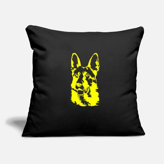 Australian Shepherd Pillow Cases - German Shepherd Design Yellow Color ✅ T-Shirt - Pillowcase 17,3'' x 17,3'' (45 x 45 cm) black