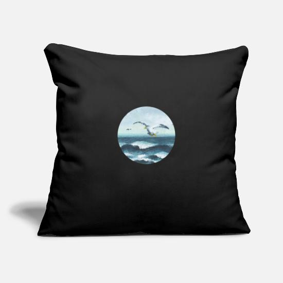 Collection Pillow Cases - seagulls - Pillowcase 17,3'' x 17,3'' (45 x 45 cm) black
